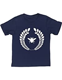 HippoWarehouse Abeja Corona Laureles camiseta manga corta niños niñas unisex