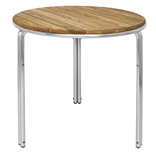GL981 Bolero Table ronde en frêne et aluminium