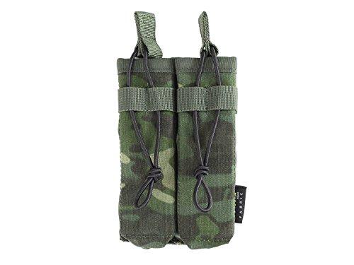 BE-X Offene Magazintasche für CQB, für MOLLE, für zwei MP5 Magazine - multicam tropic (Cqb-magazin)