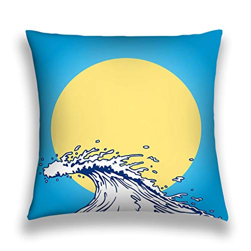 rongxincailiaoke Kissenbezüge Throw Pillow Cover Pillowcase Ocean Wave Cartoon Clip Art Baby Purple Sofa Home Decorative Cushion Case 18