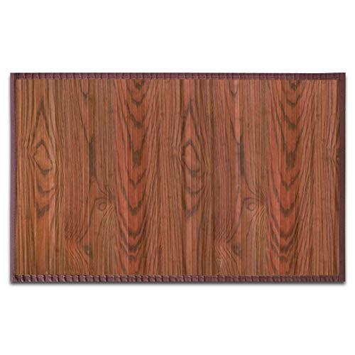 fu matte braun Casa Pura Bambus-Fußmatte, braun, rutschfest, hypoallergen, Natürlicher Bambus, braun, 50x80cm