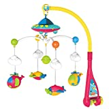 This musical cot mobile comes with ; -Hanging Aeroplane and Space shape Toys which plays Soft Music Helping the Babies Mood by controlling the Volume -The Colourful Sky which is 360 Degree Swing Notice: Product requires 3x AAA batteries (Not included...