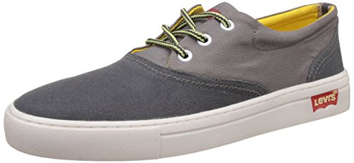 Levis Men's Yontville Low Lace Charcoal Denim Sneakers – 10.5 UK 41puiZBfjmL