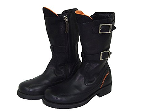 Ankle Boots Ragazzino Harley Davidson HD35 Double Buckle Leather Tg. 27