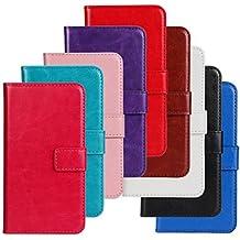 Proteja su teléfono, Flip pistolera del bolso de mano de la PU siguiente para lumia520 nokia (color clasificado) ( Color : Púrpula )