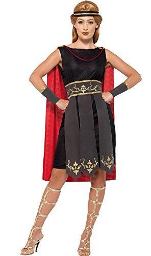 Zauberclown - Kriegerin Kostüm mit Umhang für Damen, L, (Kostüm Mittelalter Kriegerin)