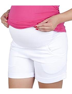 Mija - Pantaloncini Denim Jeans Premaman 9037