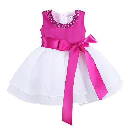 a44436cc2 IEFIEL Vestido Bautizo Boda Fiesta Bebé Vestido de Princesa Regalo ...