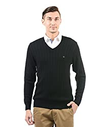 Monte Carlo Men Casual Pullover(_8907678047349_Black_42_)