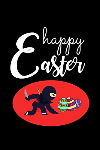 Happy Easter: NINJA Warrior Novelty Gift for Boys, Kids & Teens ~ Easter Funky Gift Small Diary, Blank Lined Journal to Write In (Ninja Turtle Korb)