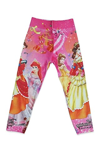 DEVIL Girls Disney pink Skinny Printed Denim Jegging Leggings Pants