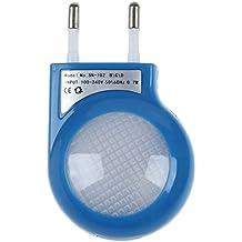 SODIAL(R) Lampara Nocturna LED Sensor Azul 0.7W con Enchufe Bajo Consumo