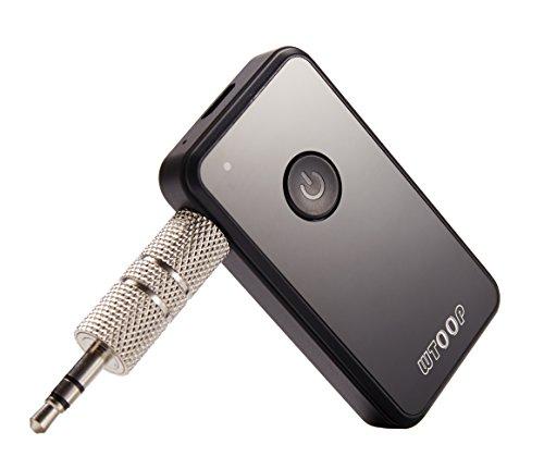 Transmisor Receptor Bluetooth 4.2, Adaptador Inalámbrico de Audio Estéreo. Transmisor/Receptor de Audio 2 en 1 de 3,5 mm para Audífonos/Altavoces/TV/Automóvil/Motocicletas/Sistema Estéreo Doméstico