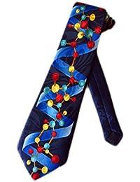 Steve Harris Mens DNA Double Helix Scientist Necktie - Blue - One Size Neck Tie