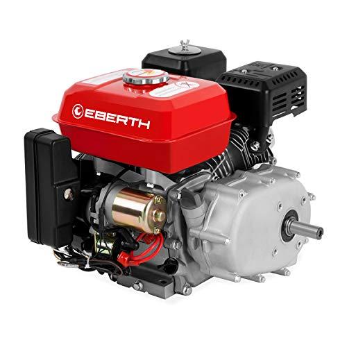 EBERTH 6,5 CV Motore a benzina con Frizione a bagno d'olio (Avviamento elettrico, 20 mm Albero, Motore a scoppio 4 tempi, 1 Cilindro, Raffreddato ad aria, Protezione da mancanza olio)