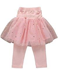 7dd4b9b2141 Duevin Leggings Filles Étoiles Mesh Stitching Enfants Pantalon Jupe  Leggings Casual Enfant