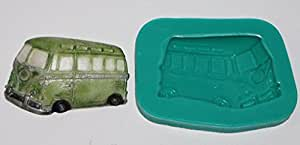 Camper van Sugarcraft Silicone Rubber Moulds Cake Decorating mold Resin sugarpaste flower paste