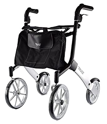 Let's Go Out Rollator - Black and Silver