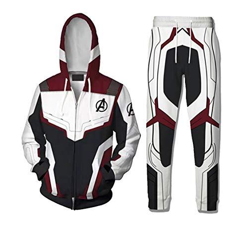 qingning Endgame Pullover Hose Anzug 3D Drucken Sweatshirt Cosplay Hoodie Gruppe Kostüm (Gruppe Cosplay Kostüm)