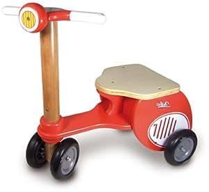 Vilac - 1069R - Vélo et Véhicule pour Enfant - Scooter Triporteur - Rouge