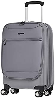 AmazonBasics Hybrid Exterior Carry-On Expandable Spinner Luggage Suitcase - 22 Inch, Grey