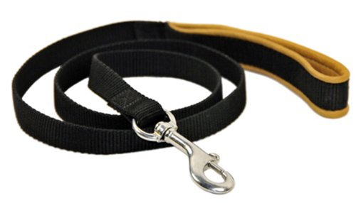 Dean-Tyler-Bundle-DT-Harness-with-Matching-Stainless-Steel-Snap-Hook-Padded-Puppy-Leash-XL-183-cm-Black-Yellow