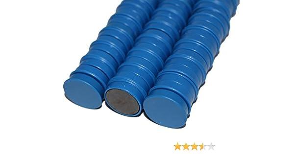50 x Magnete Schwarz ɸ 24mm Haftmagnete für Whiteboard Kühlschrankmagnet