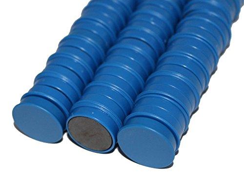 50 x Magnete, Blau ɸ 24mm, Haftmagnete für Whiteboard, Kühlschrankmagnet, Magnettafel, Magnetwand, Magnet Rund