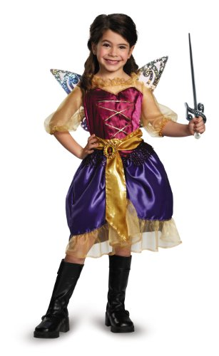 Disguise Disney's The Pirate Fairy Pirate Zarina Classic Girls Costume, Small/4-6x by Disguise