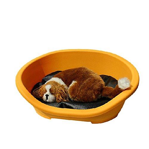 WSS Impermeabile pet odore resistente aria antibatterico lavabile cane gatto letto pulire lettiera per gatto Kennel . yellow . s pet bed - Bed Kennel