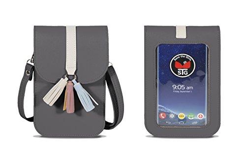 Save the Girls Touch Screen Purses Arizona Handy-Geldbörse mit extra tiefer Tasche und Kreditkartenfächern, (Pebble Gray), Einheitsgröße (Lg Handys Entsperrt Android)