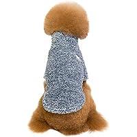Rawdah_Mascota Ropa para Perros Peque?os Abrigos Camiseta Jerseyss Mascota Perro Caliente Invierno Ropa De Cuello Alto Coral Feece Cálida Ropa De Dos Piernas
