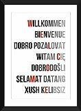 Willkommen in allen Sprachen A3 / A4 / A5 / 5 x 7