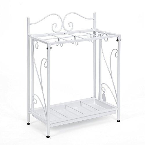 songmics-portaombrelli-porta-ombrelli-bianco-in-ferro-decorato-lavorato-per-ingresso-con-vaschetta-s