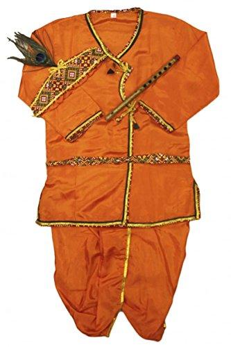 old Jungen Krishna Anzug Indian Bollywood Fancy Dress 0 (< 1 year) (Fancy Dress Krishna Kostüm)