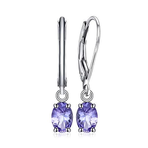 Jewelrypalace 1ct Romantische Luxus Liebe Natürlichen Lavendel Tanzanit Ohrringe Ohrhänger 925 Sterling Silber