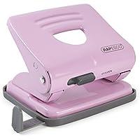 Rapesco 825 - Perforadora metálica de 2 agujeros, 25 hojas capacidad, color rosa