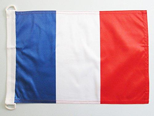 BOOTFLAGGE FRANKREICH 45x30cm - FRANZÖSISCHE BOOTSFAHNE 30 x 45 cm Marine flaggen AZ FLAG Top Qualität