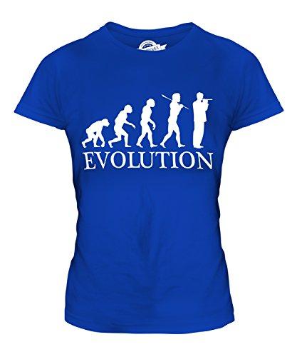 Candymix Piccoloflöte Evolution des Menschen Damen T Shirt, Größe X-Large, Farbe Königsblau