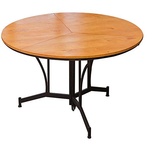 LVZAIXI Table Pliante/Petite Table de ménage/Table à Manger Simple/Table Ronde en Bois Massif/Table Pliante (Taille facultative) (Taille : 110 * 75cm)