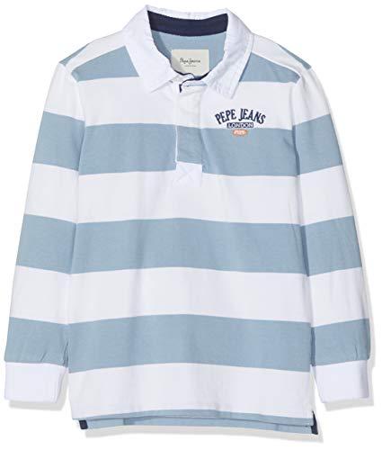 Pepe Jeans Jungen Calvin Pb540505 Poloshirt, Weiß (Optic White 802), 6-7 (Herstellergröße: 116/6 Jahre)