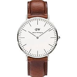 Daniel Wellington Herren-Armbanduhr Analog Quarz (One Size, weiß)