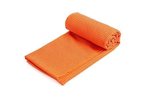 Wrail Yogadecke mit Antirutsch Noppen Yoga Handtucher Rutschfestes saugfähiges Mikrofaser für Yogamatte Saugfähig und Schnelltrocknend