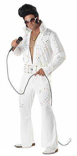 Elvis Jumpsuit Presley Kostüm - Rock Legend Übergröße Elvis Kostüm Karneval Herren Verkleidung Größe XXXL