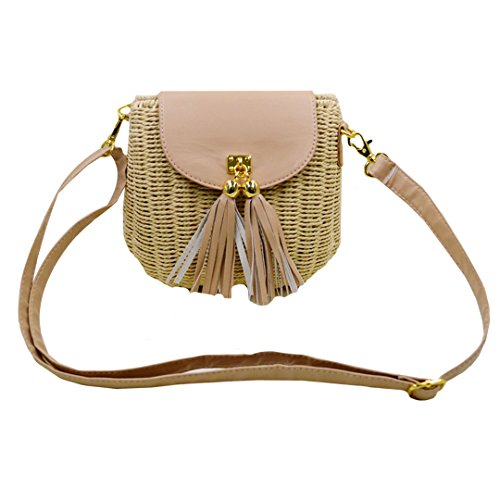 Milya Exquisite Kunsthandwerk Reine handgewebte Umhängetasche Das einzigartige Design?Shell Form Handtasche Jahrgang kleines Shellscript Strandtasche Weißer Reis