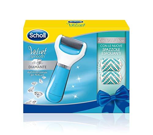 Scholl Velvet Smooth Roll Professionale per Pedicure, Edizione Limitata con Spazzole Esfolianti