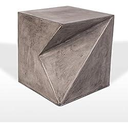 Meubletmoi Tabouret Design Sculpture décorative en béton - Salon et Jardin - mobilier Contemporain loft