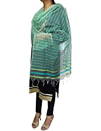 Red Lotus Multicolour Stripes Dupatta (Red Lotus 029_multicolour_Free Size)