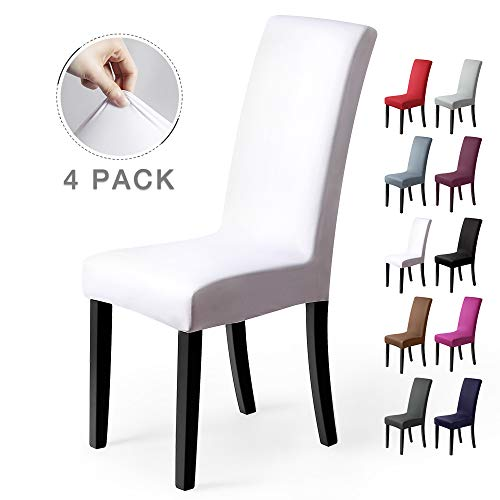 Fundas para sillas Pack de 4 Fundas sillas Comedor Fundas elásticas, Cubiertas para sillas,bielástico Extraíble Funda, Muy fácil de Limpiar,...