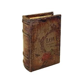 zeitzone Hohles Buch mit Geheimfach Love Buchsafe Antik-Stil 20cm